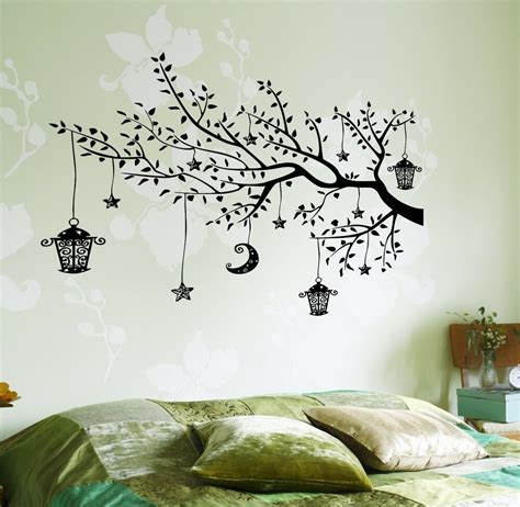 wall stickers wall decals moonlight branch wall decal branch tree moon lantern for bedroom vinyl