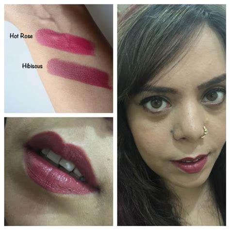 makeup city colour brown hibiscus luxe lip color review