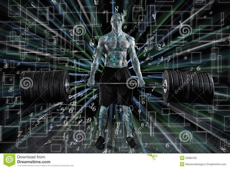 robotic man takes   world stock photo image