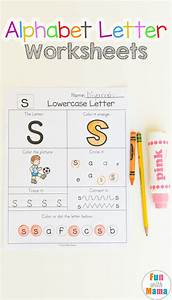 alphabet letter worksheets fun with mama With letter workbook