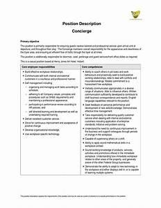 Modern Hospital Concierge Resume Sample Component