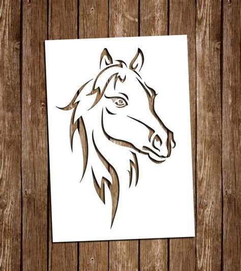 Compatible with silhouette, cricut and other cutting machines. Horse SVG Cutting Files PDF Paper Cutting Template Horse