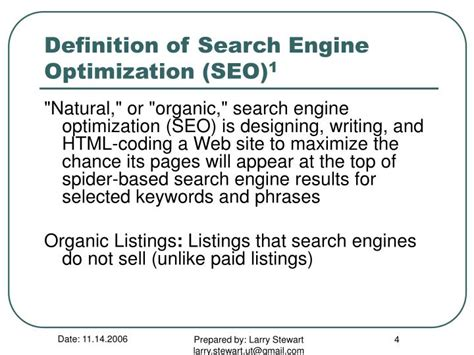 seo definition ppt search engine optimization seo powerpoint