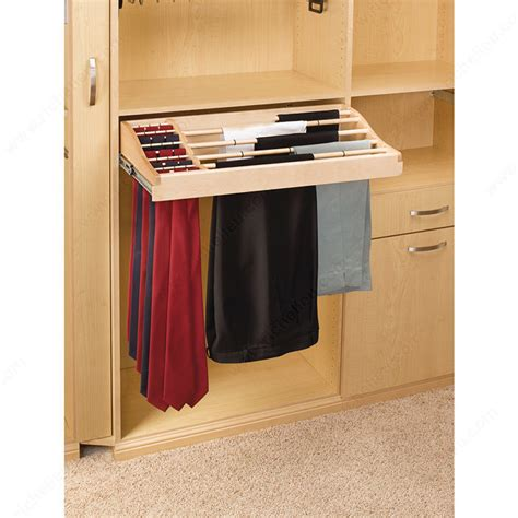 Sliding Pant And Tie Rack In Wood  Richelieu Hardware