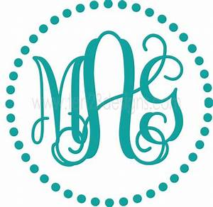 personalized circle monogram with dots border vinyl wall With circle monogram maker