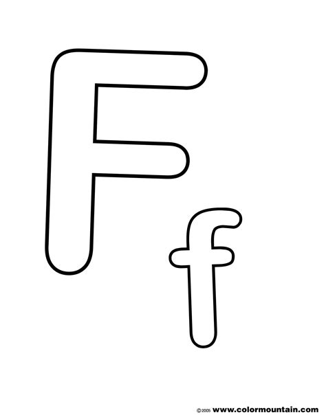 Coloring Letter F by Letter F Coloring Page Create A Printout Or Activity