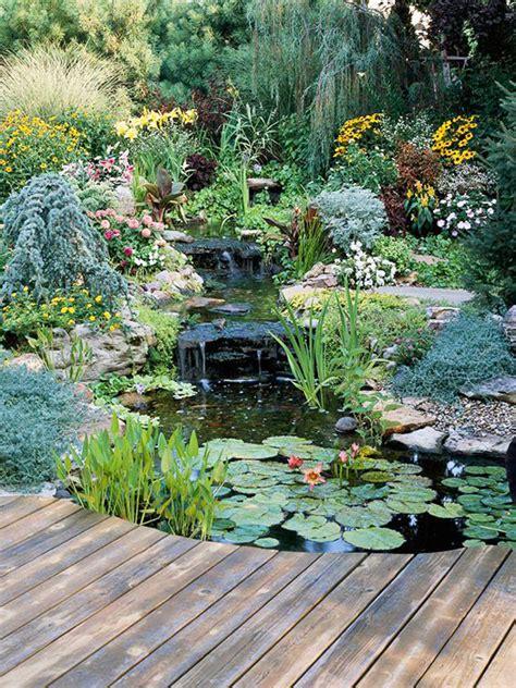 natural backyard pond garden ideas