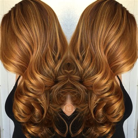 autumn hair color autumn hair color bayalage warm copper hair by