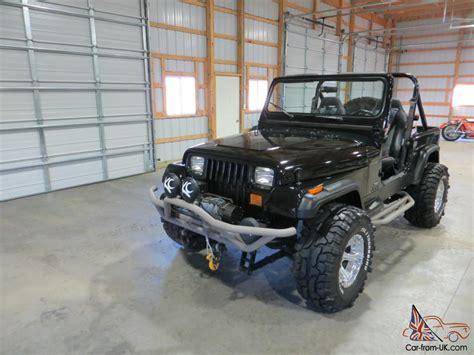 jeep wrangler custom black 1989 jeep wrangler custom black no reserve