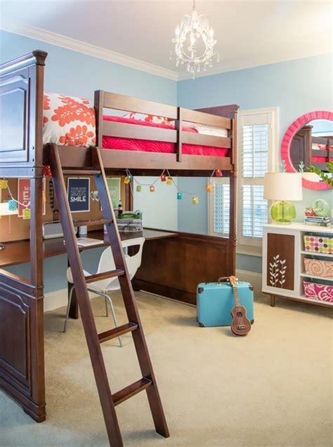 chambre fille lit mezzanine lit mezzanine pour une chambre d ado originale design feria