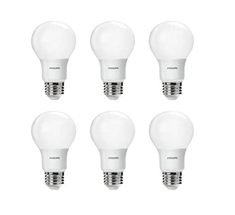 philips a19 dimmable led l philips led non dimmable a19 frosted light bulb 800 lumen
