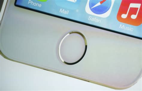 iphone 5s home button the home button which doubles as a fingerprint sensor is