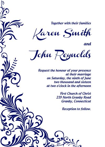 FreeDownload Foliage border wedding invitation