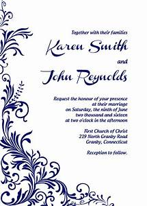 free pdf download foliage border wedding invitation With wedding invitation wording editing
