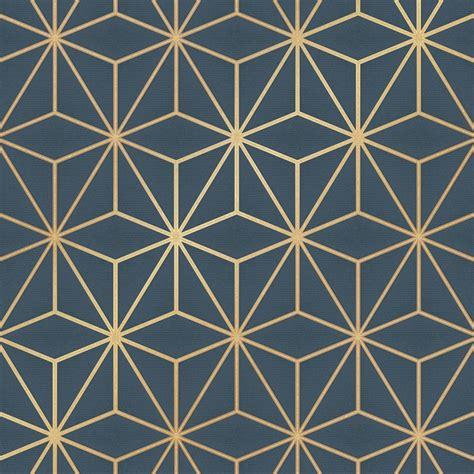love wallpaper astral metallic wallpaper navy blue gold