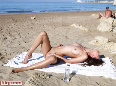 Anna Sbitnaya on the beach