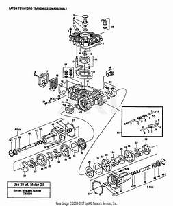 Troy Bilt 13097 15hp Hydrostatic Ltx Tractor  S  N 130970100101  Parts Diagram For Hydro  Eaton