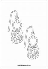Coloring Miscellaneous Earrings Sheets Sheet Pages Megaworkbook Misc sketch template