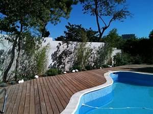 amenagement paysager autour d39une piscine classique With amenagement jardin autour piscine