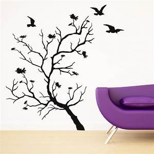 Stickers Arbre Photo : stickers arbre oiseaux pas cher ~ Teatrodelosmanantiales.com Idées de Décoration