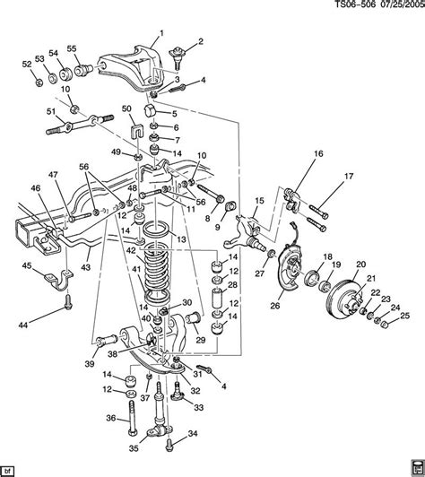 Chevy Front End Part Diagram by Front Suspension Diagram Chevy Trailblazer Trailblazer