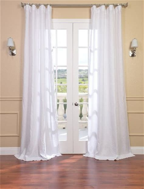 best signature purity white linen sheer curtain
