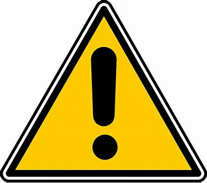 Caution Sign Exclamation Animated Mark Blinking Signs