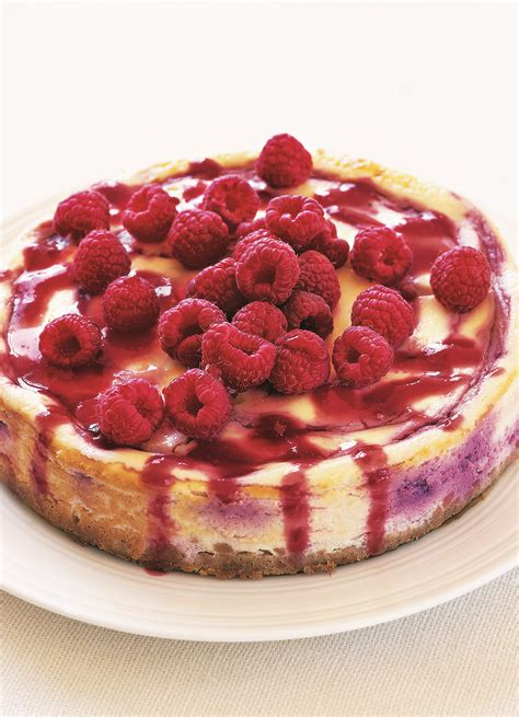 This raspberry cheesecake is best made the night before as it needs at least 6 hours to set before you dish it up. Baked Raspberry Cheesecake Recipe - olive magazine