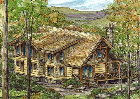 log home  open floor plan ww architectural designs house plans