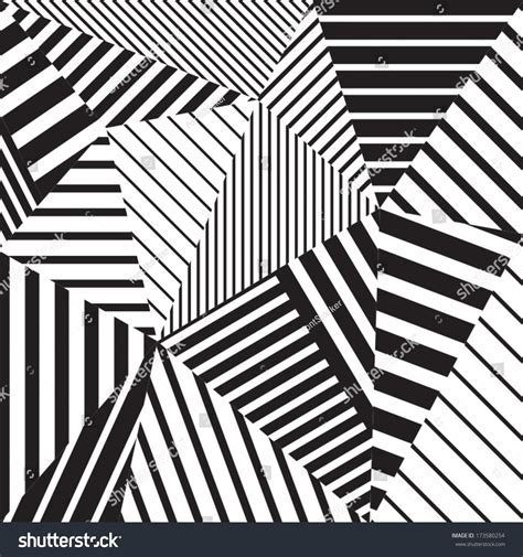 Abstract Geometric Shapes Black And White by Abstract Geometric Vector Black And White Pattern