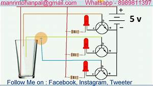Easy Water Level Indicator Using Npn Transistor Bc547 By