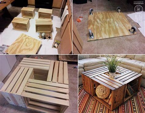 diy wooden crate furniture design ideas pallet