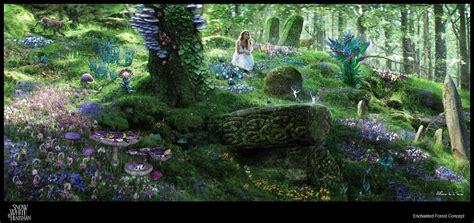 snow white  huntsman concept art   enchanted