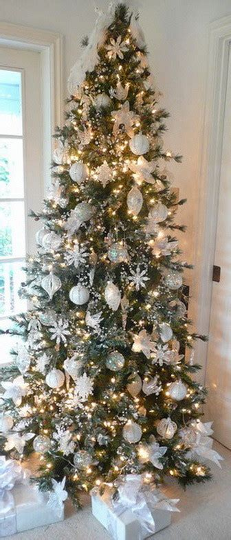 decorated white christmas trees christmas tree decorating ideas for 2016 removeandreplace com