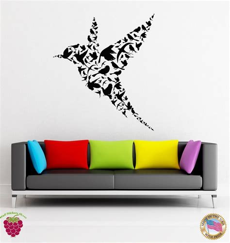 32932 wall decals for bedroom wall stickers vinyl decal bird abstract modern