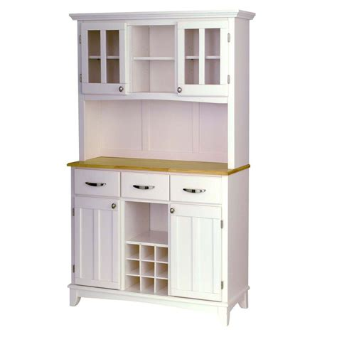 home styles white  natural buffet  hutch