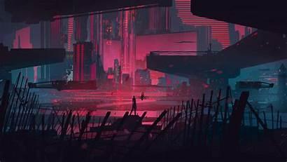 Neon Digital Cityscape Wallpapers Desktop Backgrounds Bastien