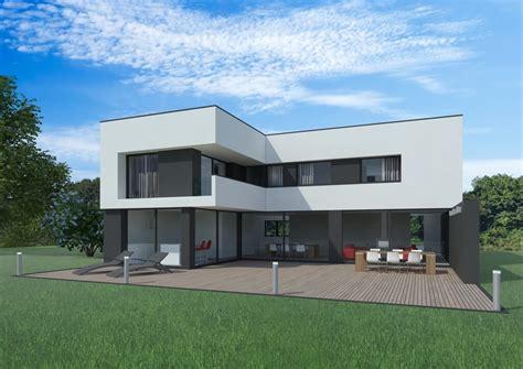 plan de cuisine en 3d gratuit modele maison cubique maison cube moderne bois vue