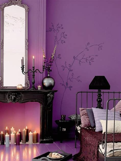 Purple And Brown Bedroom by Bedroom Mood Colour Schemes