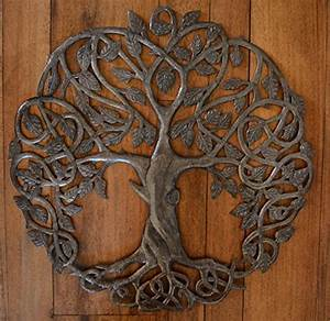 modern metal wall art in new design celtic inspired tree With kitchen cabinets lowes with celtic metal wall art