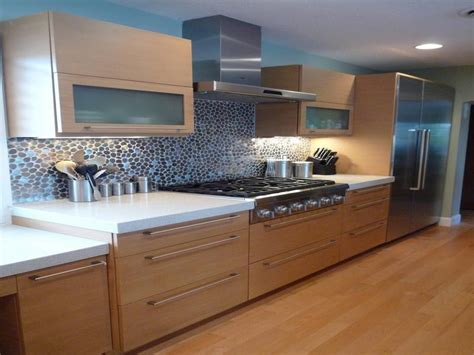 kitchen cabinet plywood modern kitchen look with bamboo cabinets kraftmaid outlet