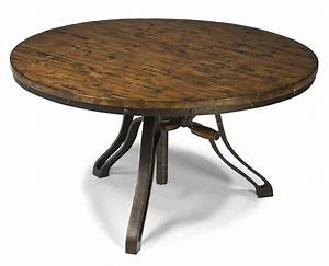 industrial style round cocktail table with adjustable With industrial style round coffee table