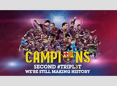 Barcelona celebrate second treble with 2009 & 2015