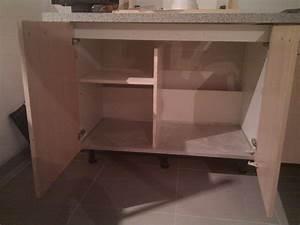 Lave Vaisselle Sous Evier : meuble sous evier tiroir ~ Premium-room.com Idées de Décoration