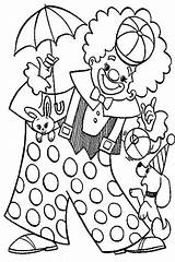 Clown Coloring Carnival Circus Pages Animal Colouring Playing Pennywise Popcorn Printable Happy Luna Colorings Getcolorings Getdrawings Colorir Desenhos Para sketch template