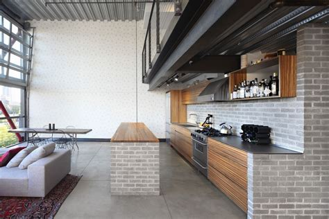 loft kitchen island apartment gets industrialized after a modern remodel 3840