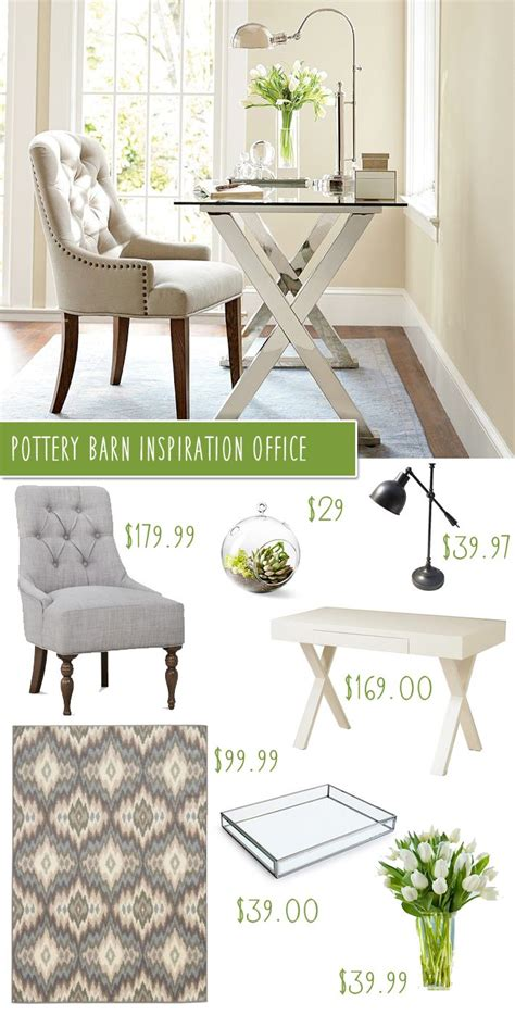 Pottery Barn On A Budget by Pottery Barn Desk Tufted Chair Office Makeover On A