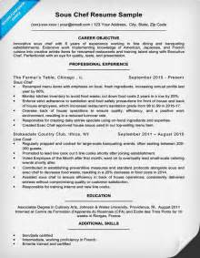 resume of a sous chef downloadable chef resume sles writing tips resume companion
