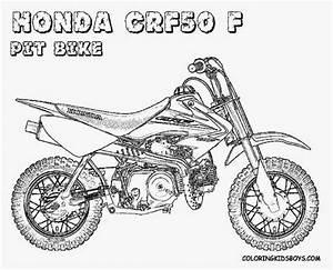 dirt bike coloring sheets printable 7 image coloringsnet With honda monkey bike