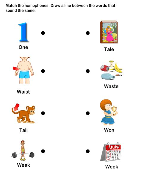 homophone word worksheet7 esl efl worksheets
